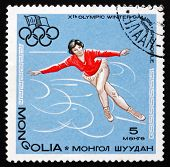Postage Stamp Mongolia 1967 Figure Skating, Winter Olympics