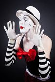 Portrait Of Theatrical Mime