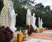 Buddah Statues In Ta Cu Mountain, Vietnam.