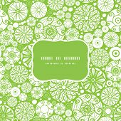 Vector abstract green and white circles frame seamless pattern background