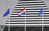 Dutch And European Union Flag