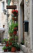 KOTOR, MONTENEGRO - JUNE, 10: Mediterranean house with flowers, on June 10, 2012 in Kotor, Montenegro