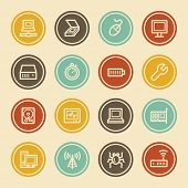 Computer Components Web Icon Set 2, Color Circle Buttons