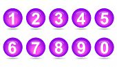 Collection Of Numbers - Violet Spheres.
