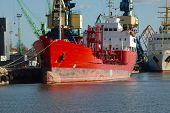 Ships in an industrial dock