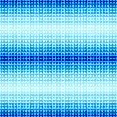 Blue diamond shape mosaic striped geometric seamless pattern, vector