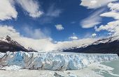 Perito Moreno Glacier In The Los Glaciares National Park, Argentina.