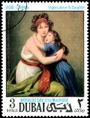 Vintage  Postage Stamp. Vigee-lebrun. Vigee-lebrun & Daughter