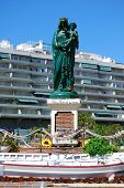 Hail Queen of the seas statue, Fuengirola.