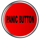 pic of panic  - A large red help panic button over a white background - JPG