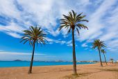 image of manga  - Playa Paraiso beach in Manga Mar Menor Murcia at Spain - JPG