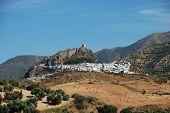 White town and countryside, Zahara de la Sierra.