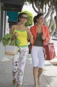 Middle Eastern women carrying shopping bags