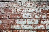 Old Whitewashed Brick Wall