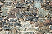 Medieval Wall Brick Texture Or Background poster