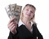 Picture Of Happy Woman With Money