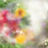 stock photo of merry chrismas  - chrismas colorful background with bright beams and sparkles - JPG