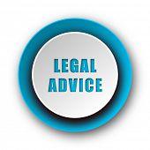 legal advice blue modern web icon on white background