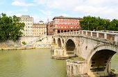 view of Ponte Sisto, Rome, Italy