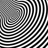 Black and white abstract striped background. Optical Art. Vector illustration.