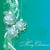 Christmas card with an ornament, vector illustration