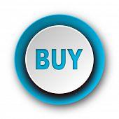 buy blue modern web icon on white background