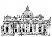 St. Peter's Cathedral, Rome, Vatican, Italy