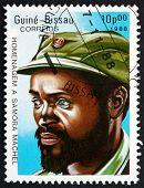 Postage Stamp Guinea-bissau 1988 Samora Machel