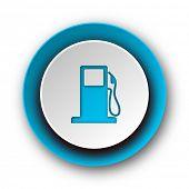 petrol blue modern web icon on white background