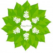 Vector beautiful ganesh ji in betel leaf