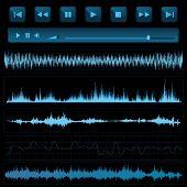 Sound waves. Music background.