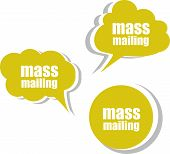 Mass Mailing. Set Of Stickers, Labels, Tags. Business Banners
