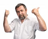 Successful Man Shows Thumbs Up