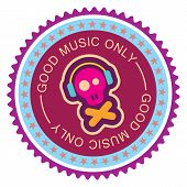 Music Round Label