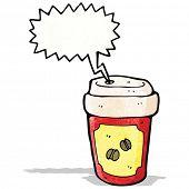 screaming hot coffee cartoon