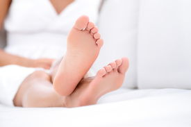 stock photo of foot  - Woman feet closeup  - JPG