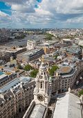 LONDON, UK - AUGUST 9, 2014. London's panorama view from St. Paul cathedral.