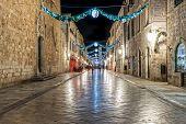 Dubrovnik Stradun in the night - long exposure