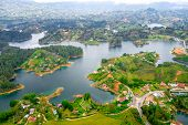 image of medellin  - Beautiful breathtaking aerial view of Guatape in Antioquia - JPG