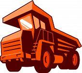 Mining Truck Low Angle Retro
