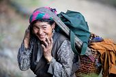 Old Nepalese Peasant Woman