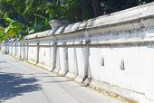 White Temple Wall.
