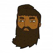 retro comic book style cartoon bearded man