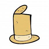 retro comic book style cartoon old top hat