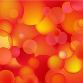 abstract red and orange bubbles