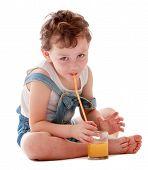 Little boy sings juice through.