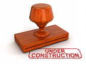 Rubber Stamp Under Construction (clipping path included)