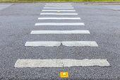 Zebra Way On The Asphalt Road Surface