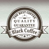 The Best Coffee Quality Guarantee Black Coffee Stamp