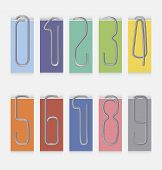 Set of metal paper clips